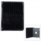 Crocodile Grain Style Protective 360 Degree Rotation PU Leather Case for IPAD 2 / 3 / 4 - Black