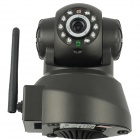 "QGS IPC011B 1/4"" CMOS Wi-Fi Surveillance IP Network Camera w/ 10-LED Night Vision - Black"