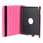 Crocodile Grain Style Protective 360 Degree Rotation PU Leather Case for IPAD 2 / 3 / 4 - Deep Pink
