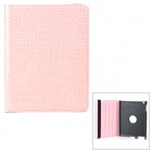 Crocodile Grain Style Protective 360 Degree Rotation PU Leather Case for IPAD 2 / 3 / 4 - Pink