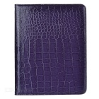 Crocodile Grain Style Protective 360 Degree Rotation PU Leather Case for IPAD 2 / 3 / 4 - Purple