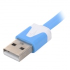 M-08 Universal Micro USB Charging / Data Cable for Cellphones - White + Blue (100cm)