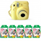Genuine Fujifilm Instax Mini - Yellow + 5 Box Fujifilm MiniFilm(10 sheets per pack x 2 packs)