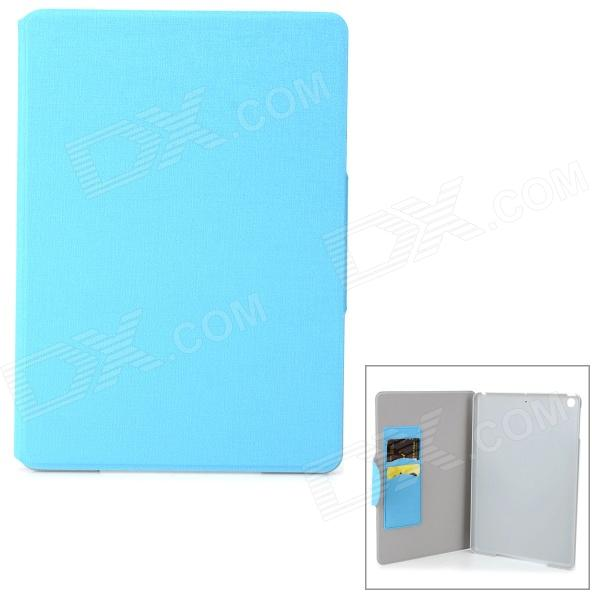 Oracle Style Protective PU Leather Case for IPAD AIR - Blue