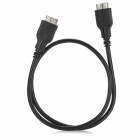 USB 3.0 9-Pin Micro B Male to Micro B Male Adapter Cable for Samsung Galaxy Note 3 - Black (50cm)