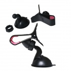 360 Degree Rotatable Car Mount Holder w/ Suction Cup for IPHONE / GPS  /MP4 / Cellphone -Black + Red