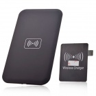 T35 Qi Standard Mobile Wireless Charger + Samsung S3 / 9300 Wireless Charger Receiver - Black