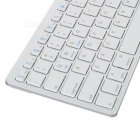 BK3001 ultra-mince bluetooth sans fil V2.0 clavier 78 touches - blanc + argent (2 x aaa)