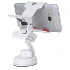 Multifunction Plastic Car Mount Holder w/ Sunction Cup for Cellphones - White
