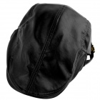 YUSHAN Fashion PU Cap - Black