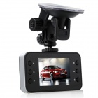 "Dh6000 2.4"" TFT LCD 5.0 MP Wide Angle Lens Car DVR w/ 2-LED IR Night Vision / TF - Black + Silver"