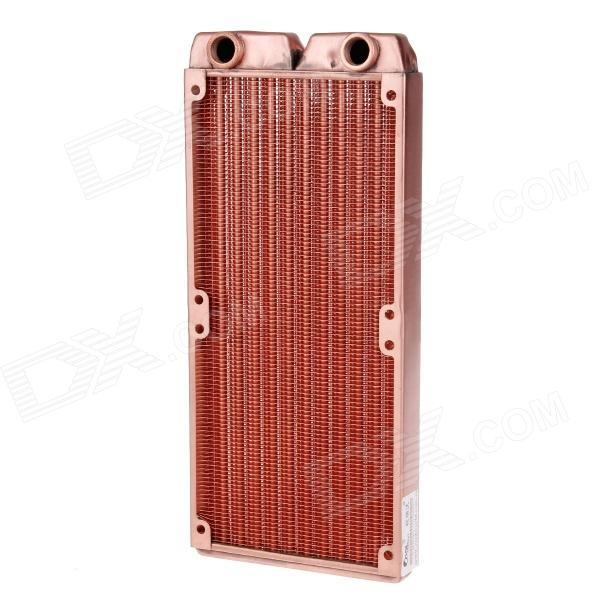WT-012 Double 12cm Copper 1/G Thread Radiator / Cooling Gear - Coppery diy laptop notebook water cooling system cooler large flow radiator water tank pumps fan integrated type transparent shell