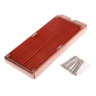WT-012 Double 12cm Copper 1/G Thread Radiator / Cooling Gear - Coppery