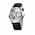SKONES804 Trend Casual Men's Double Movement Watch - White+ Black + Silver