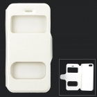 Stylish Protective PU Leather Case w/ Display Window for IPHONE 5 / 5S - White