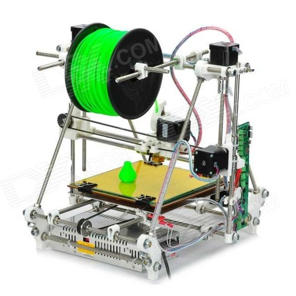 Heacent RepRap Prusa Mendel 3DP02 3D Printer Assembly Kit /0.3mm Nozzle/1.75mm Filament 3d printer filament 1kg 2 2lb 1 75mm pla plastic for reprap mendel black