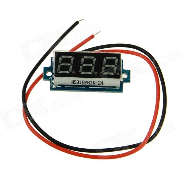 Produino STM8S003F3  0.28 3-Digit LED Digital Voltmeter - Black + White + Blue(3.5-30V )
