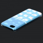 UNNAME ONE-071 Cute Sheep Pattern Plastic Back Case for IPHONE 5C - White + Blue + Multi-Colored