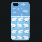UNNAME ONE-007 Cute Sheep Pattern Plastic Back Case for IPHONE 5 / 5s - White + Blue + Multi-Colored