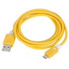 USB 2.0 Micro 5pin Charging / Data Cable for Samsung / HTC / BlackBerry - White + Yellow (150cm)
