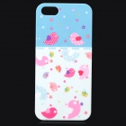 UNNAME ONE-007 Cute Bird Pattern Plastic Back Case for IPHONE 5 / 5s - White + Pink + Multi-Colored