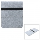 Stylish Protective Wool Felt Inner Bag for IPAD 2 / 3 - Grey + Black