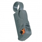 Pro'skit 6PK-332 Rotary Coaxial Cable Stripper - Gray + Yellow (RG-58 / 59 / 62 / 6 / 3C2V / 4C /5C)
