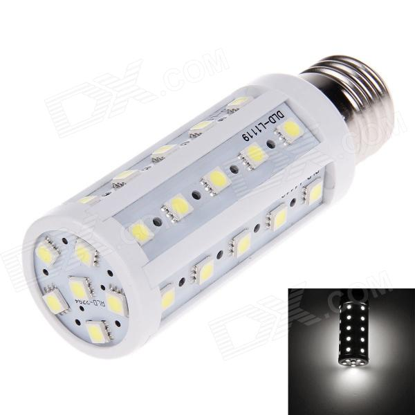 YN-YM-36P E27 5W 720LM 36-SMD 5050 LED White Light Corn Lamp - White + Silver (220V)