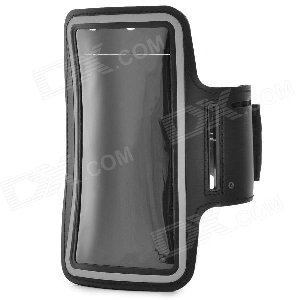 Sports Gym Neoprene Armband Case for Samsung Note 2 / Note 3 N9000 / N9002 / N9005 - Black + Grey
