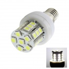 E14 5W 120lm 6500K 27-SMD 5050 LED White Lamp (AC 220~240V)