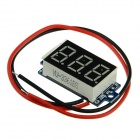 "Produino STM8S003 H20V 0.36"" LED DC 3-Digital Display Low Pressure Alarm Digital Voltmeter- Black"
