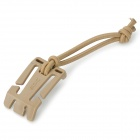 EDCGEAR Convenient Plastic Wire Winder Fixing Buckle w/ Strap - Earthy
