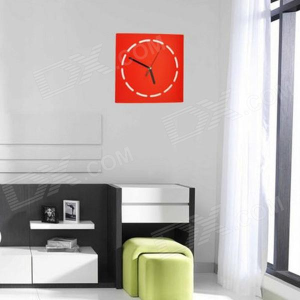 Luo Hasi TM10021A Round Simple Creative Wall Clock - Red (1 x AA) creative coffee time wall mounted clock blue 1 x aa