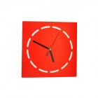 Luo Hasi TM10021A Round Simple Creative Wall Clock - Red (1 x AA)