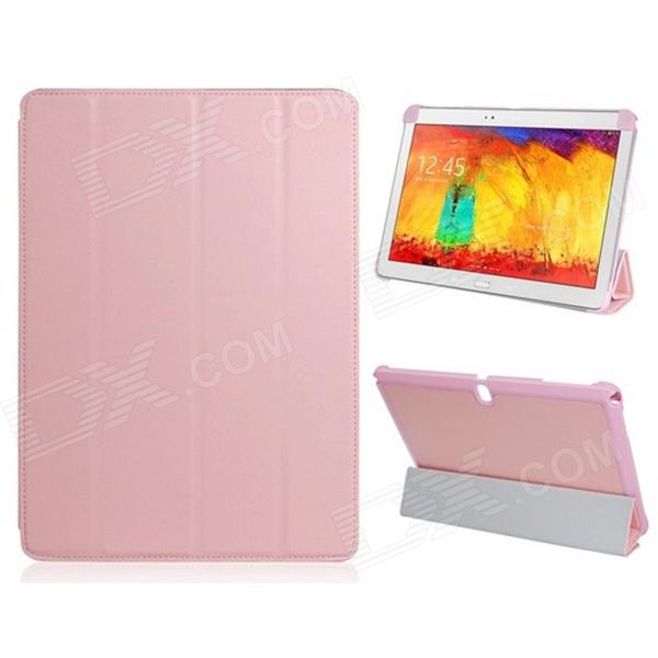 PU Leather Case Stand w/ Auto-Sleep Cover for Samsung Galaxy Note P600 / P601 2014 Edition - Pink nillkin silk series protective pu leather case w auto sleep for samsung galaxy note 4 white