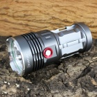 KINFIRE K40X 4-LED 2400lm 3-Mode White Flashlight - Gray (4 x 18650)