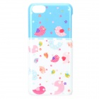 UNNAME ONE-071 Cute Cartoon Bird Pattern PC Back Case for IPHONE 5C - White + Pink