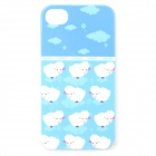 UNNAME ONE-072 Sac à dos pour ordinateur portable Cute Sheep Pattern pour IPHONE 4 / 4S-Blanc + Bleu
