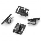 360 Degree Rotatable Water Pipe Tube Holder Clamp - Black (4 PCS)