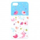 UNNAME ONE-072 Cute Cartoon Bird Pattern PC Back Case for IPHONE 4 / 4S - White + Pink