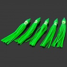 Octopus Style Soft Silicone Fishing Bait Lure - Green (5 PCS)
