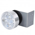 Wired 12W 350lm 6500K 4-LED Motorcycle Spotlight - Silver + Black (12~85V)