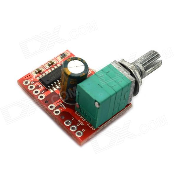 MaiTech USB Powered 5V 3W +3W Mini Digital Amplifier Board - Red good working original used for power supply board led 42v800 le 42tg2000 le 32b90 vp168ug02 gp power board