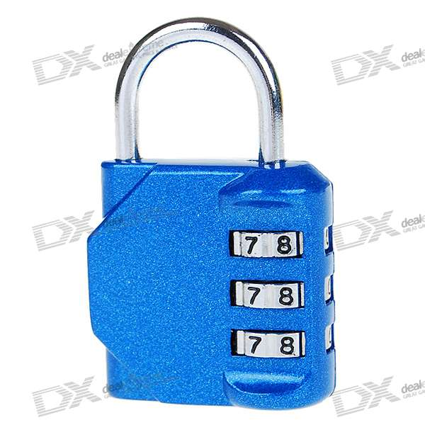 Resettable Combination Password Lock (Color Assorted)
