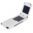 PUDINI WB-12000M Universal 2.5W 12000mAh Fold-up Li-ion Polymer Solar Power Bank- White + Black