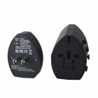 SWA2 Universal Travel Power Plug Adapter w/ Safety Lock / Dual USB - Black