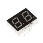 5202BS 1.3'' 2-digital Common Anode Red LED Digital 7-Segment Display - Black + White (5PCS)