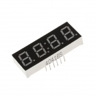 4041BS 1.7''4bit Common Anode Red LED Digital 7-Segment Display - Black + White (5PCS)