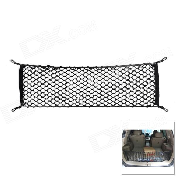 Praktisk Storage Elastisk Nylon Trunk Net Mesh for bil - Sort