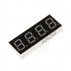4042BS 1.8 Inch 4bit Common Anode Red LED Digital 7-Segment Display - Black + White (5 PCS)